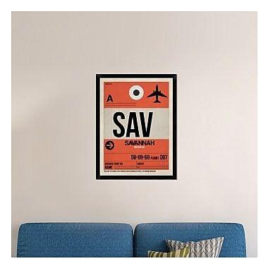 Naxart 'SAV Savannah Luggage Tag I' Framed Graphic Art Print on Canvas; 34'' H x 26'' W x 1.5'' D