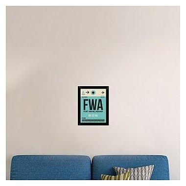 Naxart 'FWA Fort Wayne Luggage Tag I' Framed Graphic Art Print on Canvas; 18'' H x 14'' W x 1.5'' D