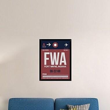Naxart 'FWA Fort Wayne Luggage Tag II' Framed Graphic Art Print on Canvas; 34'' H x 26'' W x 1.5'' D