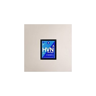 Naxart 'HVN New Haven Luggage Tag II' Framed Graphic Art Print on Canvas; 18'' H x 14'' W x 1.5'' D