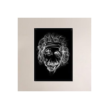 Naxart 'Albert Einstein 2' Framed Graphic Art Print on Canvas; 42'' H x 30'' W x 1.5'' D