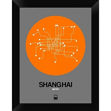 Naxart 'Shanghai Orange Subway Map' Framed Graphic Art Print on Canvas; 18'' H x 14'' W x 1.5'' D