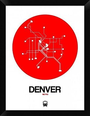Naxart 'Denver Red Subway Map' Framed Graphic Art Print on Canvas; 26'' H x 20'' W x 1.5'' D