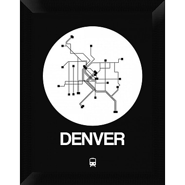 Naxart 'Denver White Subway Map' Framed Graphic Art Print on Canvas; 18'' H x 14'' W x 1.5'' D