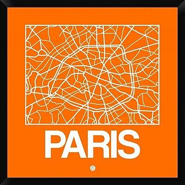 Naxart 'Orange Map of Paris' Framed Graphic Art Print on Canvas; 32'' H x 32'' W x 1.5'' D