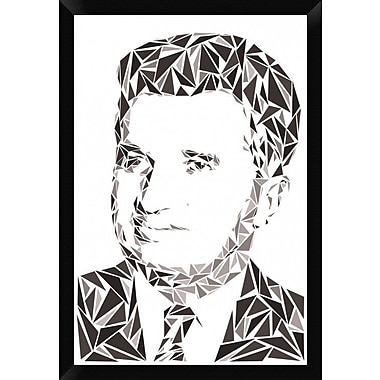 Naxart 'Nicolae Ceausescu' Framed Graphic Art Print on Canvas; 32'' H x 22'' W x 1.5'' D