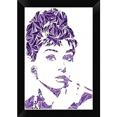 Naxart 'Audrey Hepburn' Framed Graphic Art Print on Canvas; 20'' H x 14'' W x 1.5'' D