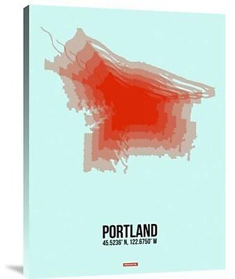 Naxart 'Portland Radiant Map 1' Graphic Art Print on Canvas; 16'' H x 12'' W x 1.5'' D