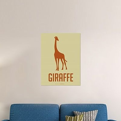 Naxart 'Giraffe Orange' Graphic Art Print on Canvas; 40'' H x 30'' W x 1.5'' D