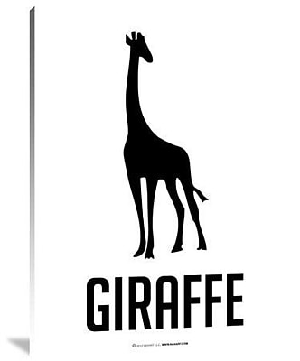 Naxart 'Giraffe Black' Graphic Art Print on Canvas; 32'' H x 24'' W x 1.5'' D