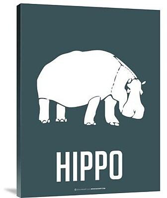 Naxart 'Hippo White' Graphic Art Print on Canvas; 24'' H x 18'' W x 1.5'' D