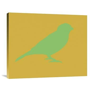 Naxart 'Green Bird' Graphic Art Print on Canvas; 20'' H x 24'' W x 1.5'' D