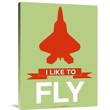 Naxart 'I Like to Fly 3' Graphic Art Print on Canvas; 24'' H x 18'' W x 1.5'' D