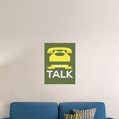 Naxart 'I Like to Talk 3' Graphic Art Print on Canvas; 16'' H x 12'' W x 1.5'' D