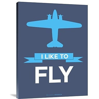 Naxart 'I Like to Fly 4' Graphic Art Print on Canvas; 16'' H x 12'' W x 1.5'' D