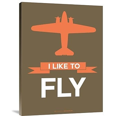 Naxart 'I Like to Fly 5' Graphic Art Print on Canvas; 40'' H x 30'' W x 1.5'' D