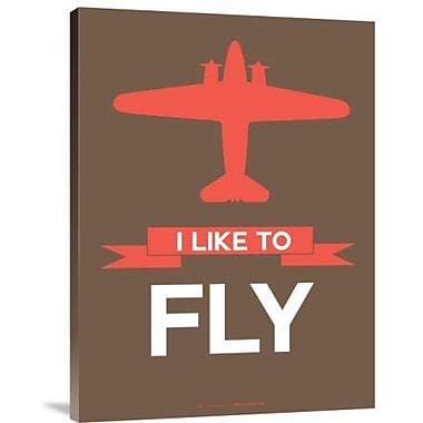 Naxart 'I Like to Fly 6' Graphic Art Print on Canvas; 16'' H x 12'' W x 1.5'' D