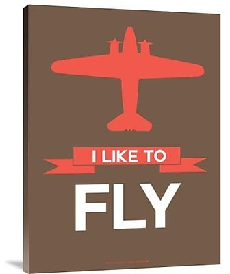 Naxart 'I Like to Fly 6' Graphic Art Print on Canvas; 32'' H x 24'' W x 1.5'' D
