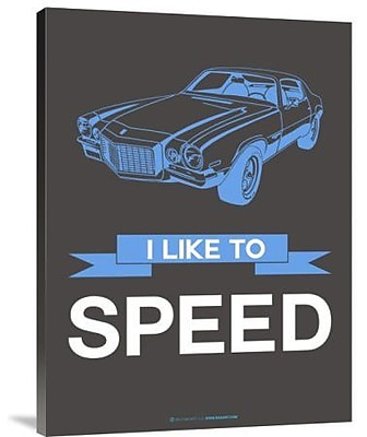 Naxart 'I Like to Speed 1' Graphic Art Print on Canvas; 40'' H x 30'' W x 1.5'' D