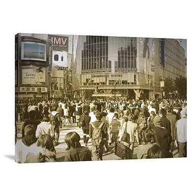 Naxart 'Tokyo Intersection' Photographic Print on Canvas; 18'' H x 24'' W x 1.5'' D