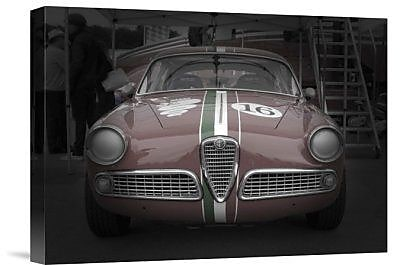 Naxart 'Racing Alfa Romeo' Photographic Print on Canvas; 18'' H x 24'' W x 1.5'' D