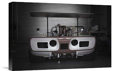 Naxart 'Racing Garage' Photographic Print on Canvas; 20'' H x 30'' W x 1.5'' D