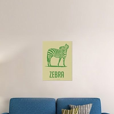 Naxart 'Zebra Green 2' Graphic Art Print on Canvas; 32'' H x 24'' W x 1.5'' D