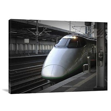 Naxart 'Speed Train (or Shinkanzen)' Photographic Print on Canvas; 30'' H x 40'' W x 1.5'' D