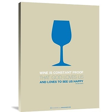 Naxart 'Wine Blue' Graphic Art Print on Canvas; 24'' H x 18'' W x 1.5'' D