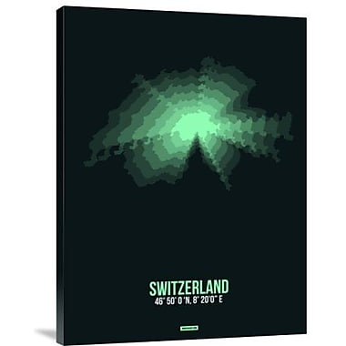 Naxart 'Switzerland Radiant Map 3' Graphic Art Print on Canvas; 32'' H x 24'' W x 1.5'' D