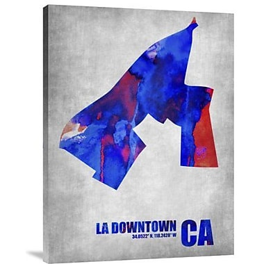 Naxart 'Downtown Los Angeles California' Graphic Art Print on Canvas; 24'' H x 18'' W x 1.5'' D