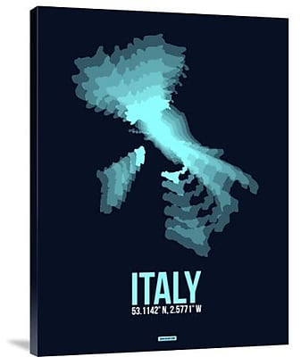Naxart 'Italy Radiant Map 1' Graphic Art Print on Canvas; 24'' H x 18'' W x 1.5'' D