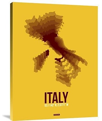Naxart 'Italy Radiant Map 3' Graphic Art Print on Canvas; 32'' H x 24'' W x 1.5'' D