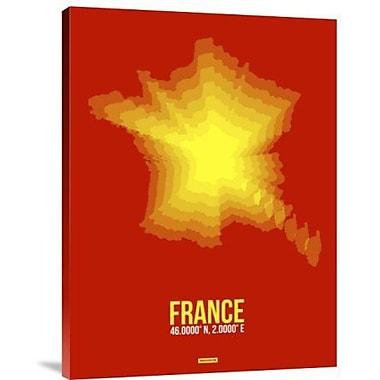 Naxart 'France Radiant Map 1' Graphic Art Print on Canvas; 16'' H x 12'' W x 1.5'' D