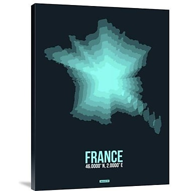 Naxart 'France Radiant Map 2' Graphic Art Print on Canvas; 24'' H x 18'' W x 1.5'' D