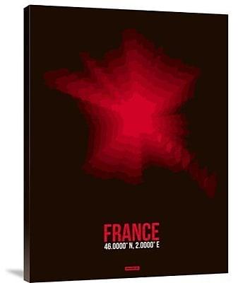 Naxart 'France Radiant Map 4' Graphic Art Print on Canvas; 32'' H x 24'' W x 1.5'' D