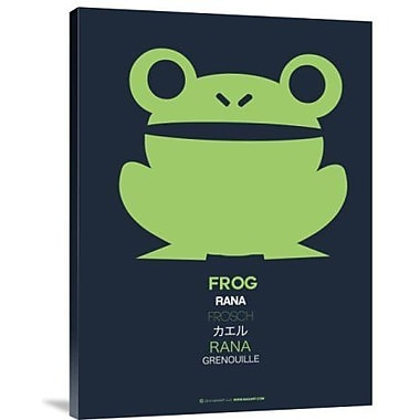 Naxart 'Green Frog Multilingual' Graphic Art Print on Canvas; 16'' H x 12'' W x 1.5'' D