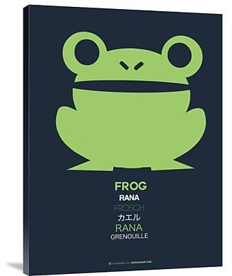 Naxart 'Green Frog Multilingual' Graphic Art Print on Canvas; 40'' H x 30'' W x 1.5'' D