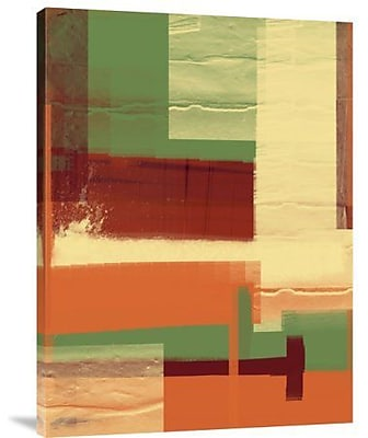 Naxart 'Green and Brown Abstract 1' Painting Print on Canvas; 24'' H x 18'' W x 1.5'' D
