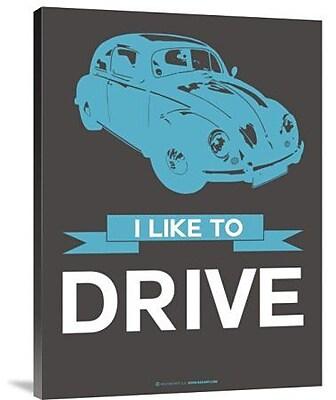 Naxart 'I Like to Drive Beetle 3' Graphic Art Print on Canvas; 24'' H x 18'' W x 1.5'' D