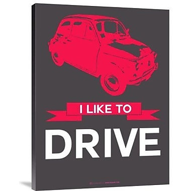 Naxart 'I Like to Drive Beetle 6' Graphic Art Print on Canvas; 40'' H x 30'' W x 1.5'' D
