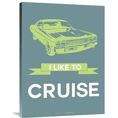 Naxart 'I Like to Cruise 1' Graphic Art Print on Canvas; 16'' H x 12'' W x 1.5'' D