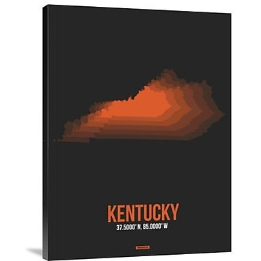 Naxart 'Kentucky Radiant Map 6' Graphic Art Print on Canvas; 24'' H x 18'' W x 1.5'' D