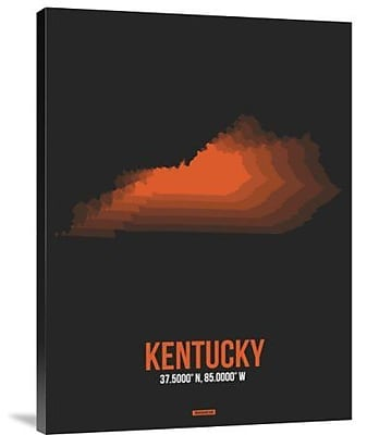 Naxart 'Kentucky Radiant Map 6' Graphic Art Print on Canvas; 40'' H x 30'' W x 1.5'' D