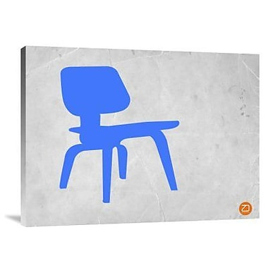 Naxart 'Eames Blue Chair' Graphic Art Print on Canvas; 24'' H x 32'' W x 1.5'' D