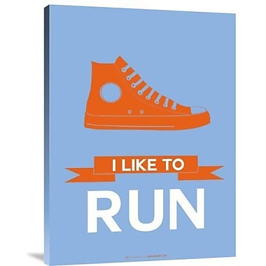 Naxart 'I Like to Run 3' Graphic Art Print on Canvas; 32'' H x 24'' W x 1.5'' D