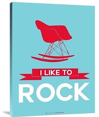 Naxart 'I Like to Rock 1' Graphic Art Print on Canvas; 16'' H x 12'' W x 1.5'' D