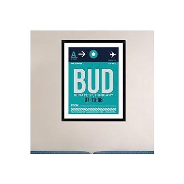 Naxart 'BUD Budapest Luggage Tag II' Framed Graphic Art Print; 38'' H x 30'' W x 1.5'' D