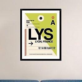 Naxart 'LYS Lyon Luggage Tag I' Framed Graphic Art Print; 38'' H x 30'' W x 1.5'' D