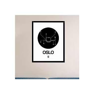 Naxart 'Oslo Black Subway Map' Framed Graphic Art Print; 38'' H x 30'' W x 1.5'' D